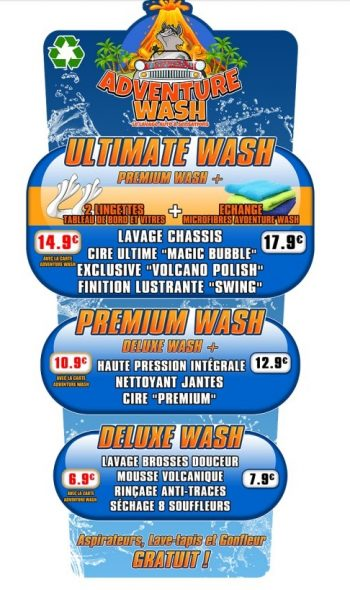 Programmes tunnel de lavage Adventure Wash , Expertise Lavage Auto, Coleman Hanna